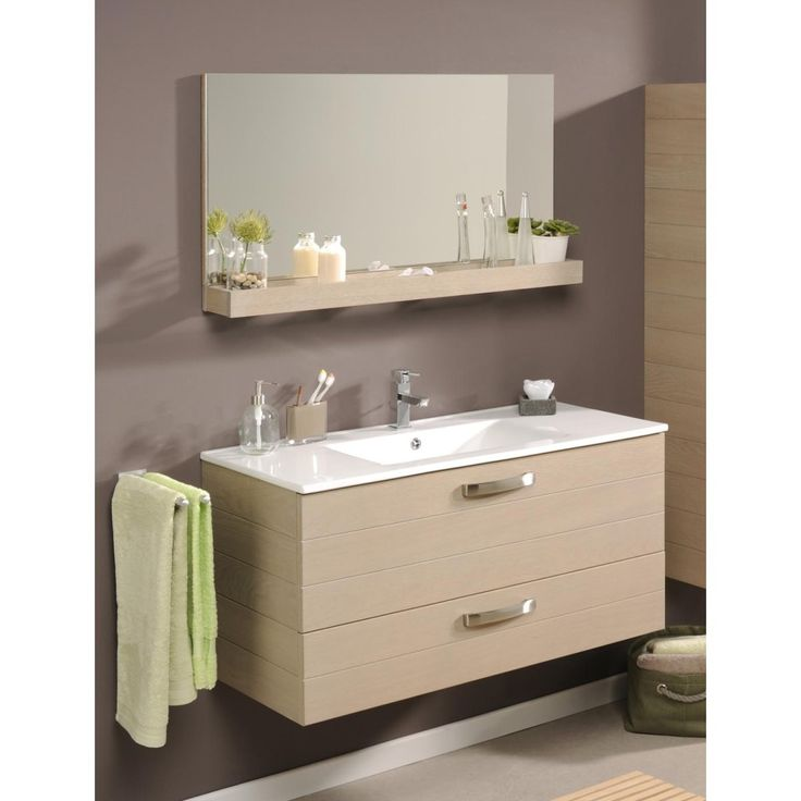 meuble de salle de bain meuble sous vasque tablette miroir 100cm vania miliboo la redoute. Black Bedroom Furniture Sets. Home Design Ideas