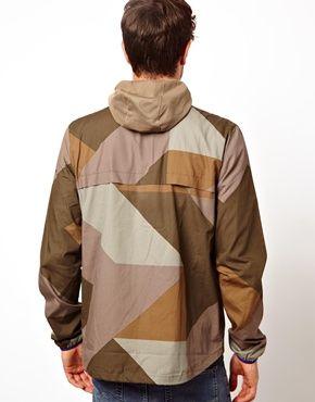 Image 2 of Boxfresh Hooded Jacket Camo Print Windbreaker