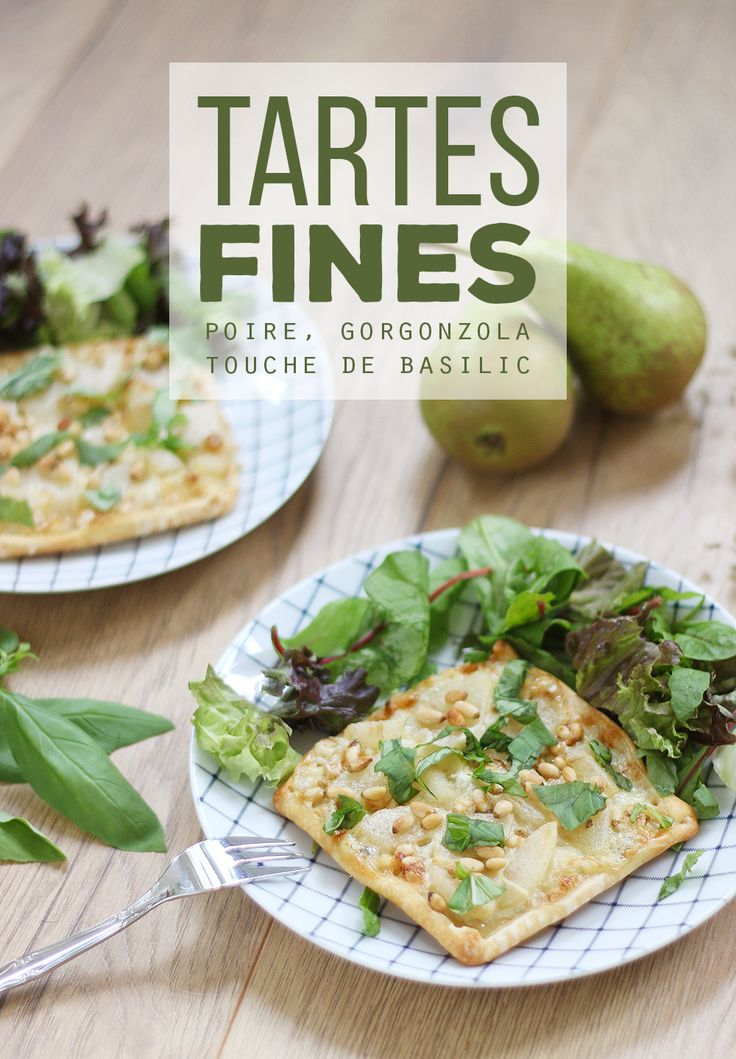 Tartelettes fines poire, gorgonzola et basilic - Mango and Salt