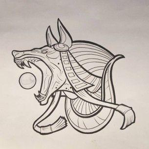 Картинки по запросу anubis tattoo