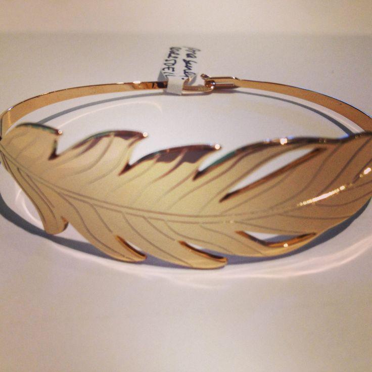 Bracelet jonc plaque or