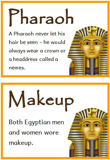 Ancient Egypt Fact Cards - Treetop Displays - Printable EYFS, KS1, KS2 classroom displays & primary teaching resources
