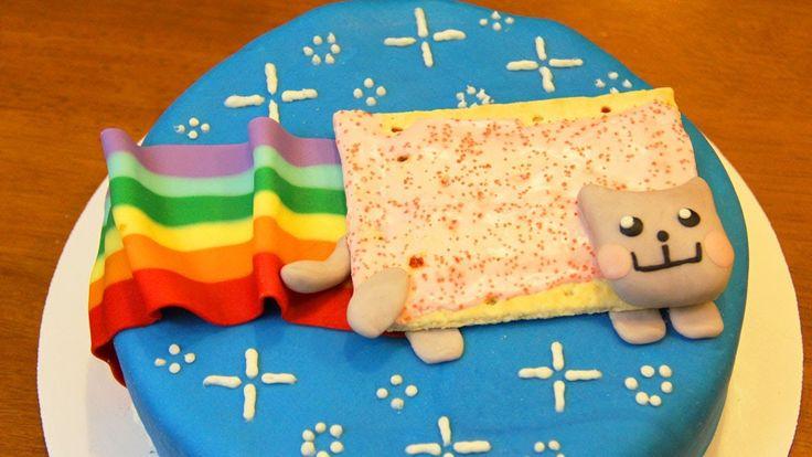 NYAN CAT CAKE - NERDY NUMMIES