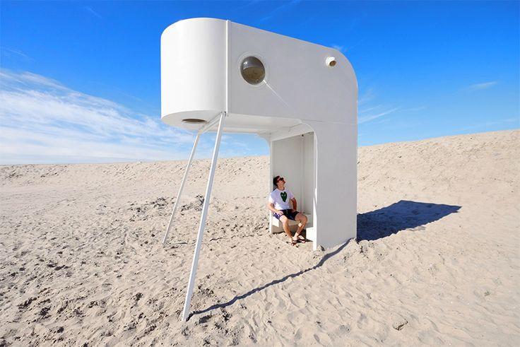 urban campsite amsterdam offers sculptural habitats for an art/sleep experience