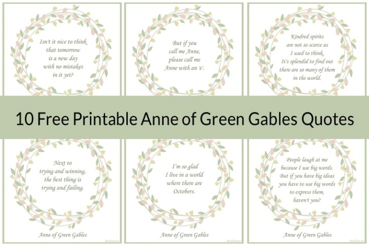 72 best photos and printables images on pinterest free for Anne of green gables crafts