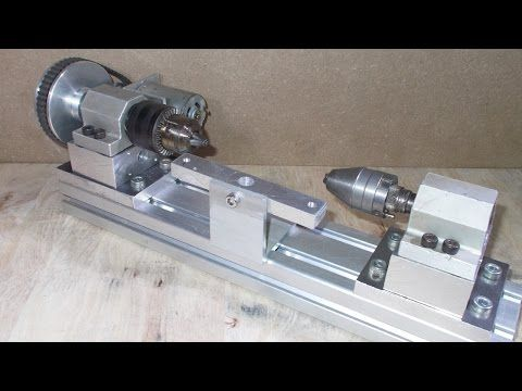 how to make a wood lathe with a drill
