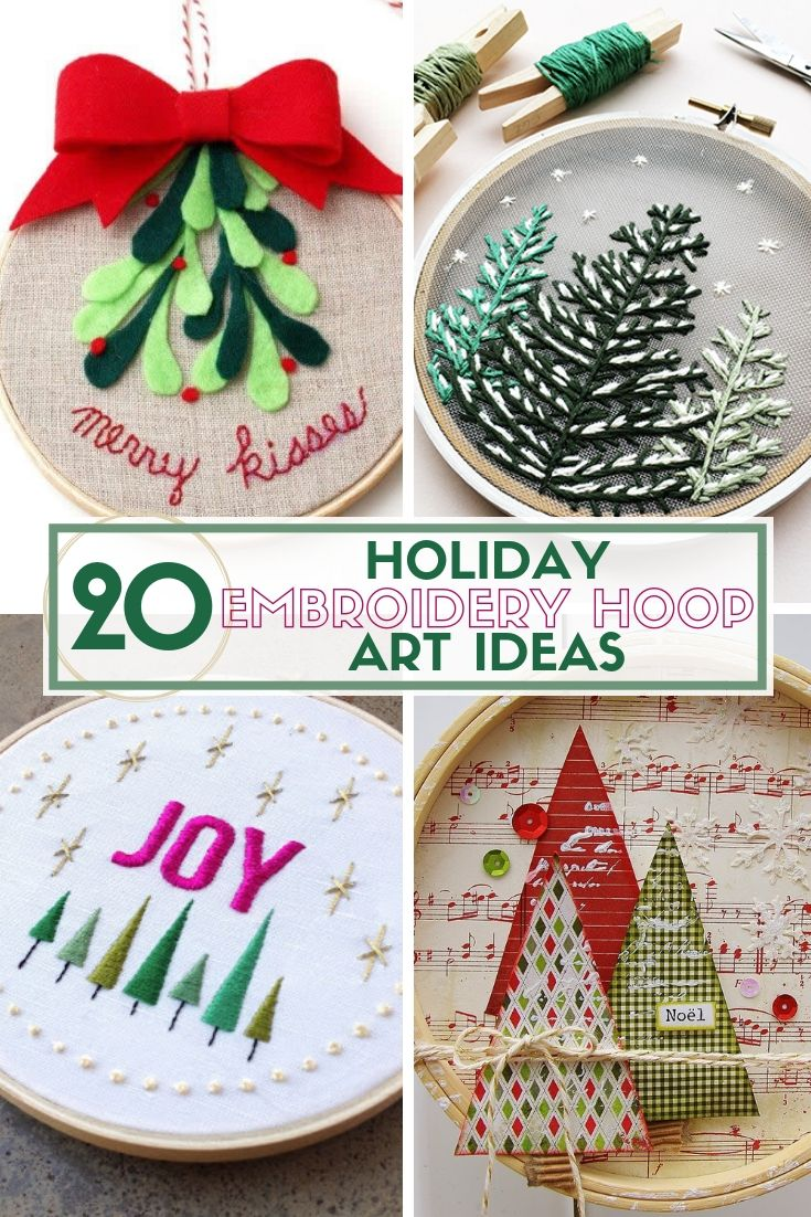 20 Holiday Embroidery Hoop Art Ideas Embroidery Hoop Crafts Diy Christmas Ornaments Christmas Embroidery