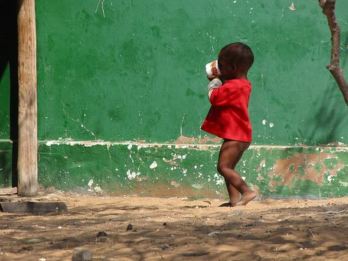 Baby african boy