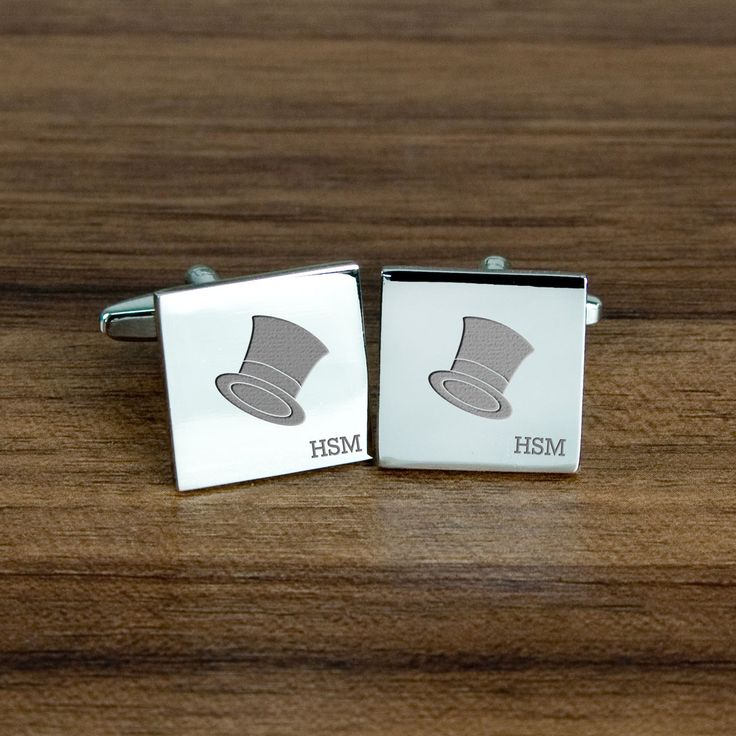Personalised Top Hat Cufflinks - yourgifthouse