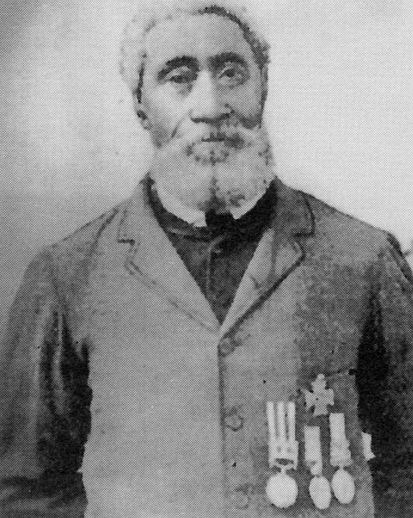 Photo of William Hall, born in 1825 in Summerville, Nova Scotia received the Victoria Cross, the highest British military award for bravery.  Canadian Black History.