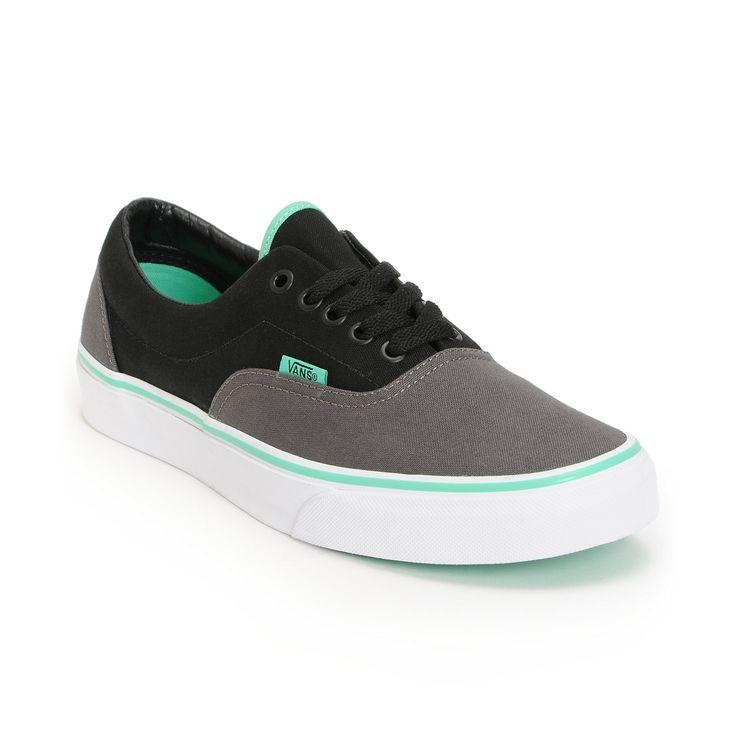 converse zumiez. vans era charcoal, black, \u0026 mint green skate shoe at zumiez : pdp converse