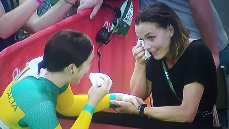 The greatest of track rivals share a moment - Anna Meares and Victoria Pendleton #tears #memories #cycling #bike #ride #explore #exercise