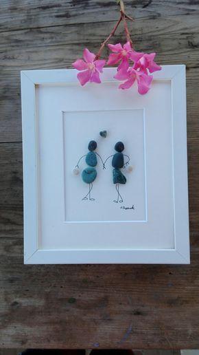 Ghiaia gli amici arte ragazze regalo di arte di ghiaia gli