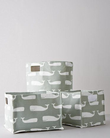 Wrangle towels and bath toys (or anything you choose) with these cotton canvas storage bins in happy prints. Sized for use on shelving or bookcases, our colorful updates to classic storage bins make organizing and decorating both easy and fun.