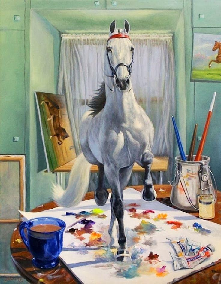 arte-surrealista-pinturas-de-caballos