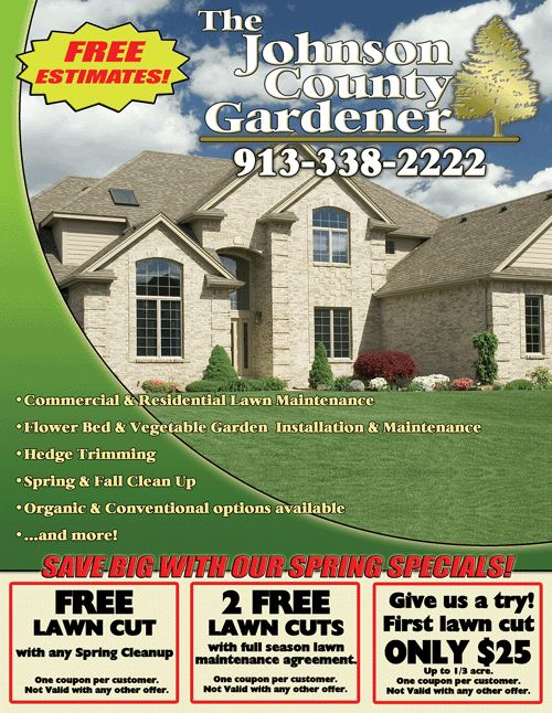 Lawn care flyer lawn care business tips pinterest for Lawn care flyer template free