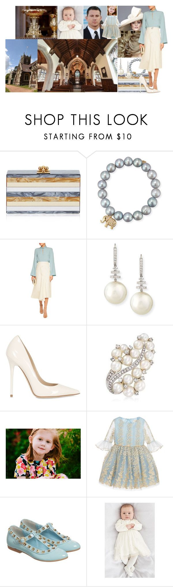 """Jana, Paul and Natalie Winter at the christening of Princess Frances of Clarence"" by charlottedebora ❤ liked on Polyvore featuring Edie Parker, Sydney Evan, Roksanda, Belpearl, Jimmy Choo, David Charles and step2wo"