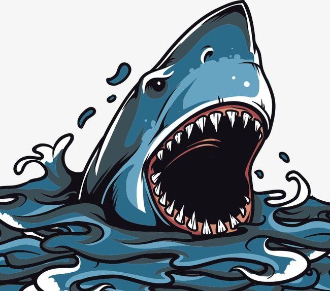 Impression De Requins Imprime Impression De Vecteur Impression De Vetement Fichier Png Et Psd Pour Le Telechargement Libre Affiche Artistique Requin Impressionnisme