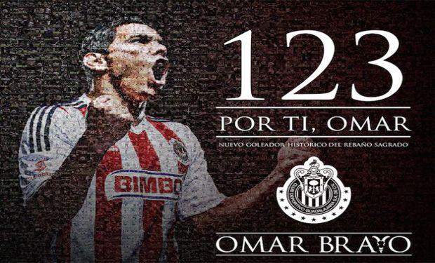 Omar Bravo hace historia con Chivas