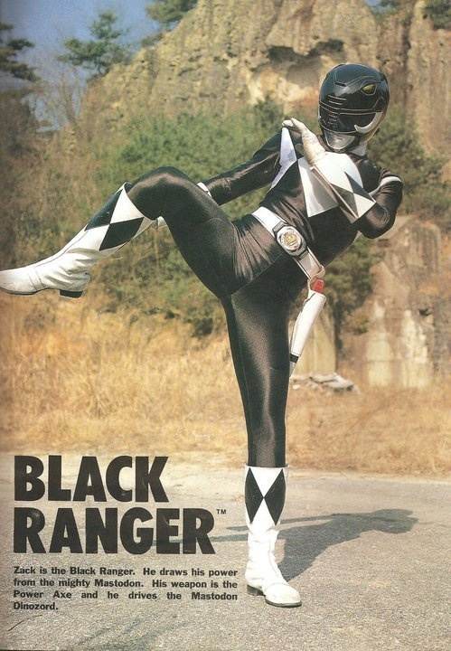 Zack/Black Ranger- Mighty Morphin' Power Rangers
