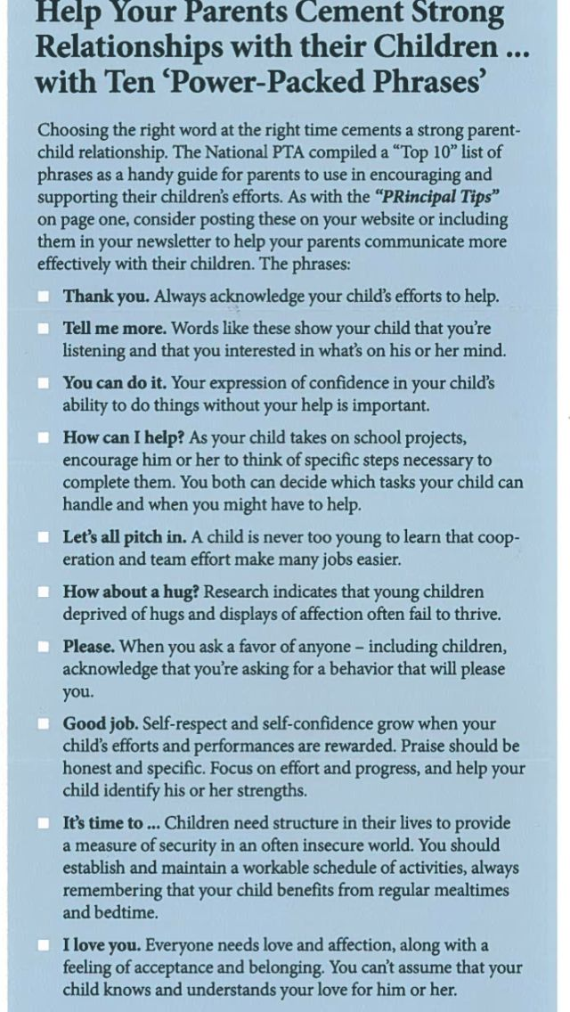 Cementing Strong Relationships with Your Child(den) » 10 Power-Packed Phrases
