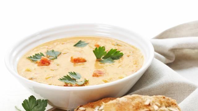 Oppskrift på Hot suppe med grove scones