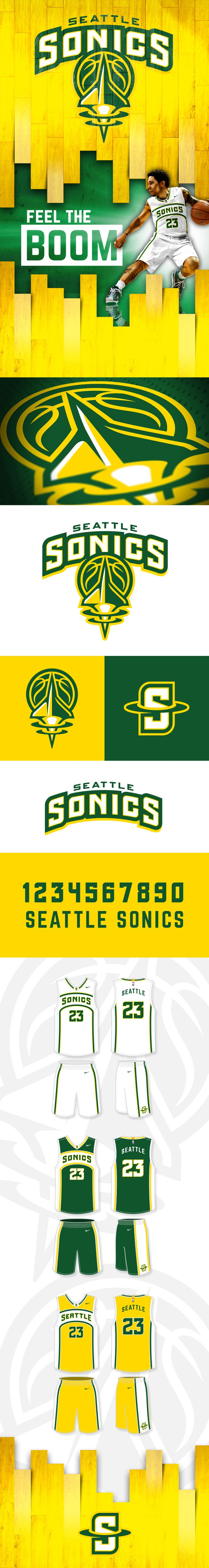 Seattle Sonics Identity Concept on Behance