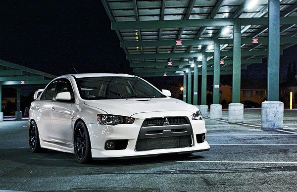 Lancer EVO MR in White. The modern sleeper.