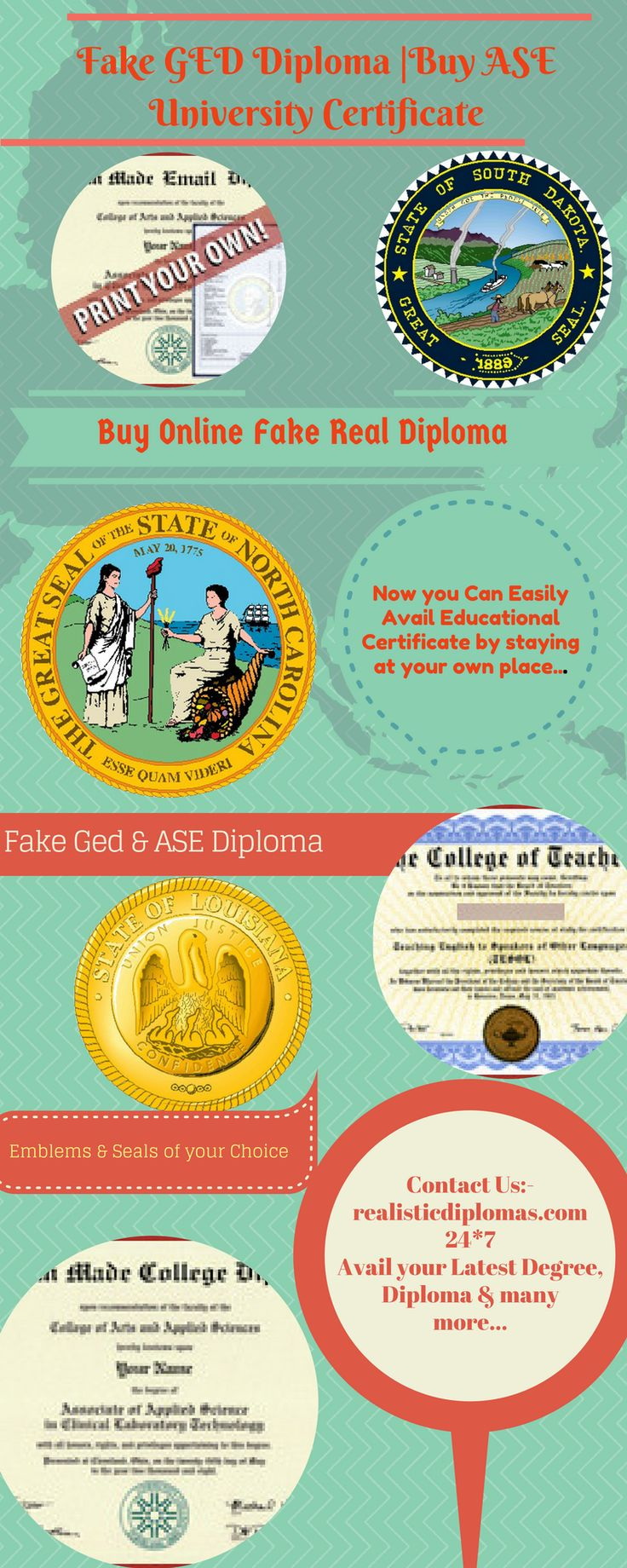 Get a realistic fake PhD degree, diplomas and transcripts with less cost! Realistic Diplomas have many phony diploma designs as well as novelty college designs according to your need.
