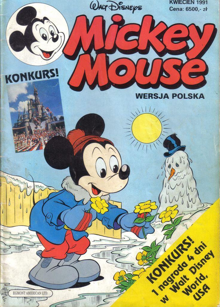 Poland - Mickey Mouse (Polish) Scanned image of comic book (© Disney) cover
