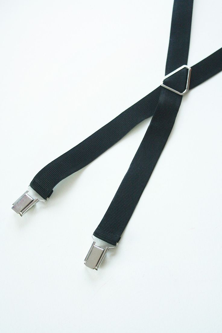 Vintage black braces/suspenders by TurquoiseFlamingo on Etsy