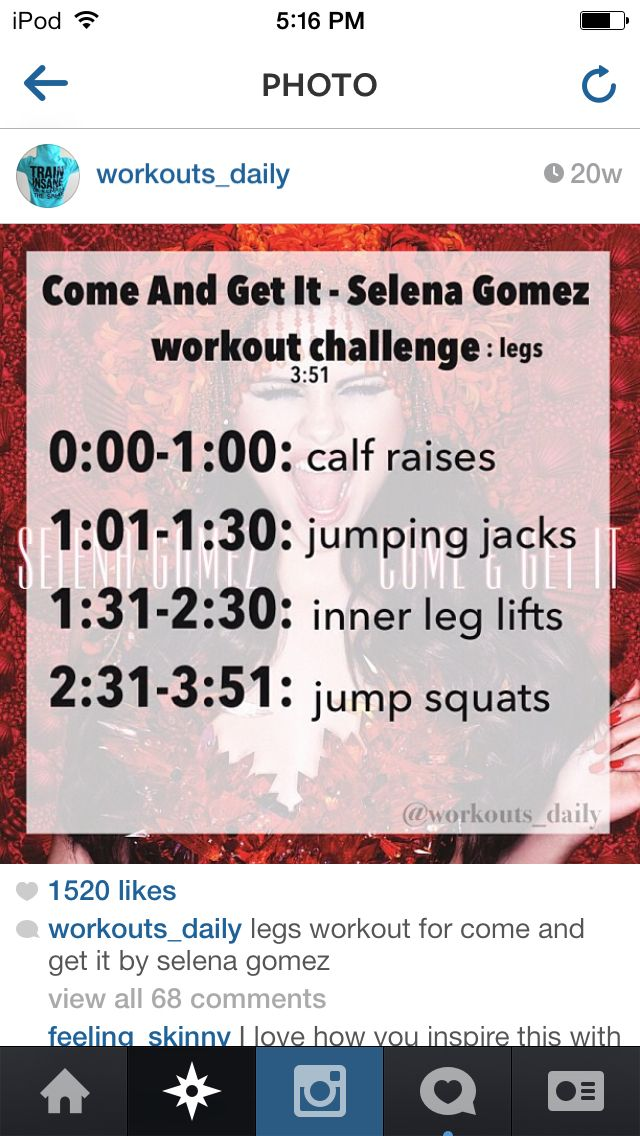 "One Song Workout - ""Come and Get It"""