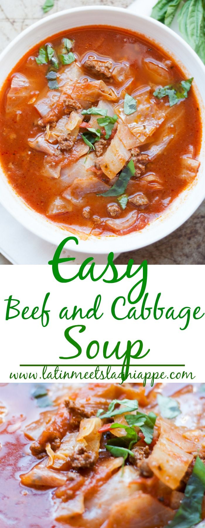 Easy Beef and Cabbage Soup via @latinmeetsla