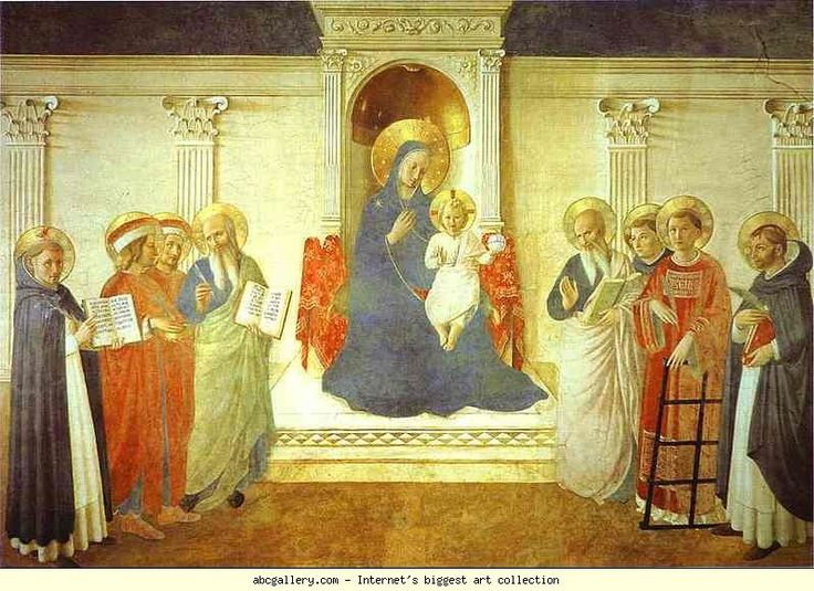 Madonna delle Ombre (Madonna of the Shadows) Fra Angelico Italian 1395-1455 c.1450 Renaissance Fresco and Tempera on panel Museo di San Marco, Florence, Italy