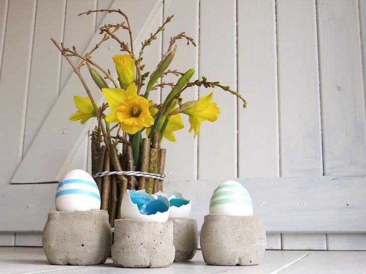 Eierbecher, Vase, Kerzen – Oster- und Frühjahrsdeko   sweet paul