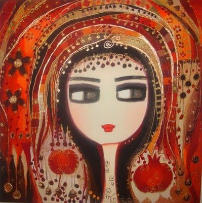 art & lady in red - Canan Berber