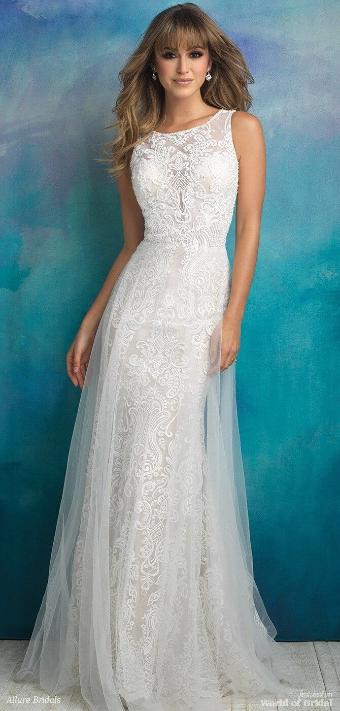 238 best Sheath Wedding Dresses images on Pinterest   Homecoming ...