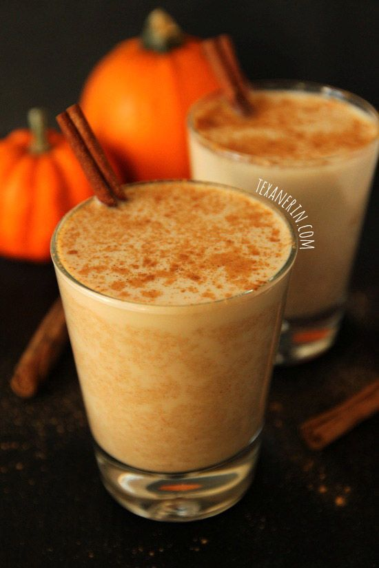 Pumpkin Chai Latte - Texanerin Baking --I love soy pumpkin spice chai lattes at the coffee shop, and will have to try this homemade version