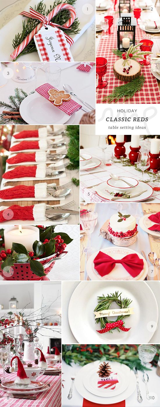 50 Holiday Table Setting Ideas Table Settings Christmas