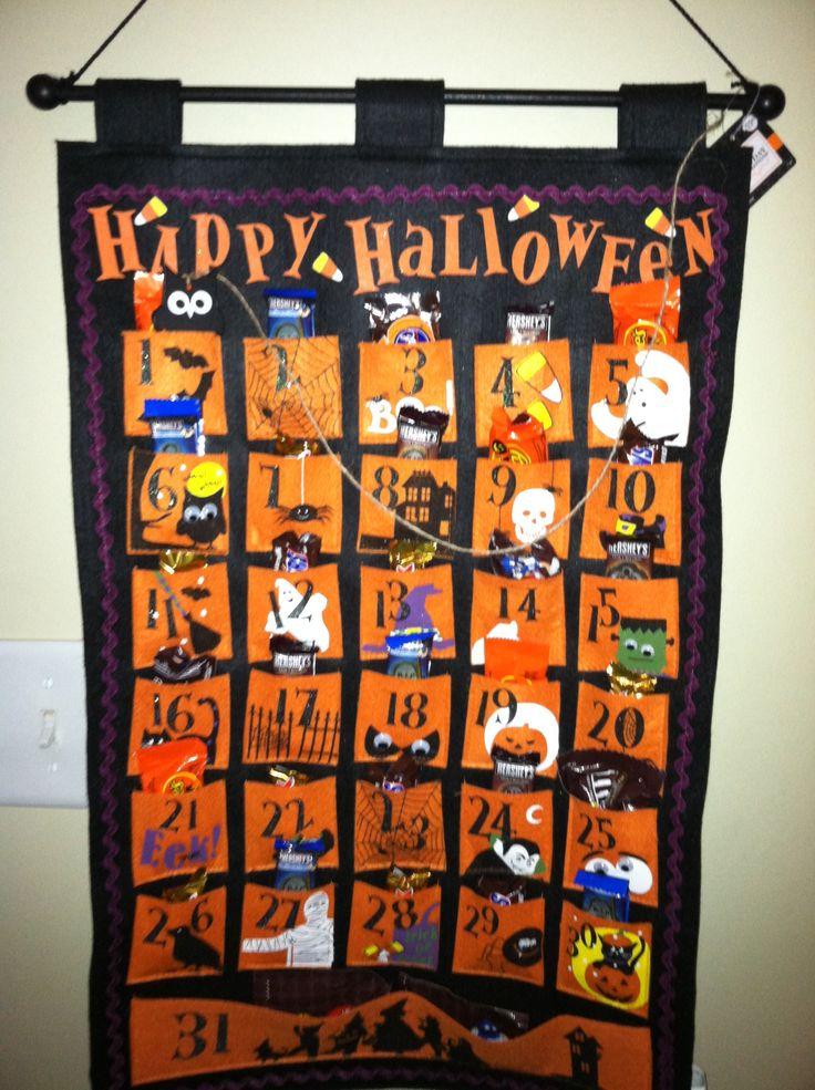 Halloween Advent Calendar halloween decorations