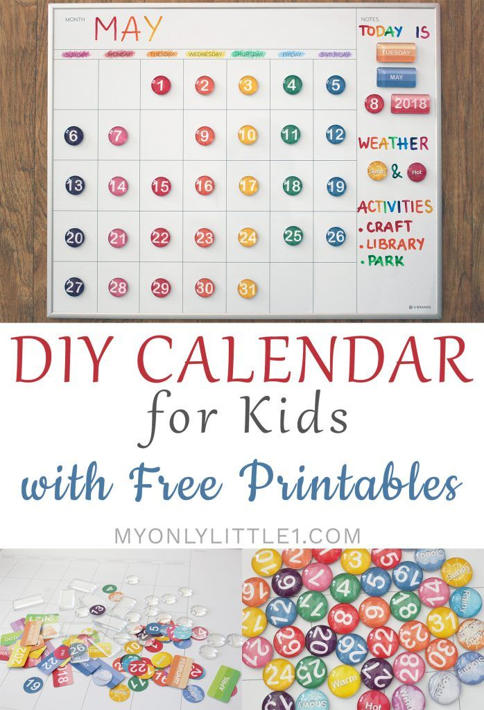 Diy Calendar For Kids With Free Printables Kids Calendar Toddler Calendar Diy Calendar