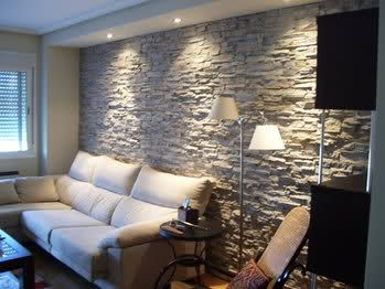 1000 ideas sobre paredes decoradas con piedra en - Decorar pared de salon ...