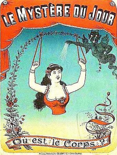 ou es le corps? (vintage circus illustration)
