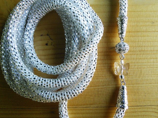Ravelry: Metelitsa's Silver Rope with Butterfly