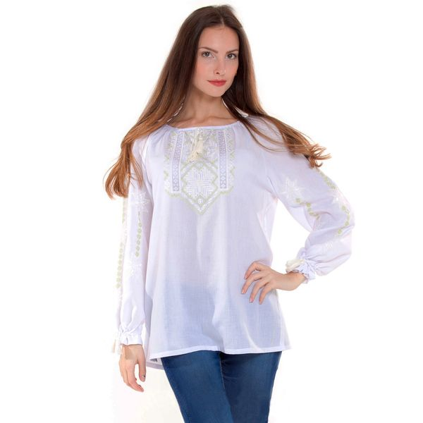 Roksolana hand-embroidered peasant blouse, summer tunic