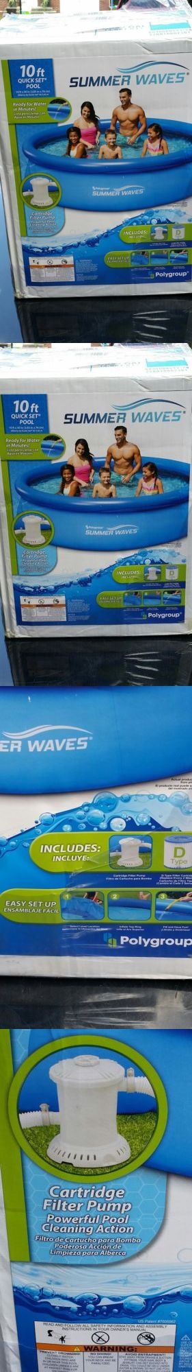Inflatable and Kid Pools 116407: Summer Waves 10 Ft. Quick Set Inflatable Above Ground Pool With Filter Pump -> BUY IT NOW ONLY: $59 on eBay!