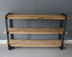 Industrial Bookcase, Shelving Unit, Storage, Reclaimed Wood, Rustic, Rustic, Furniture, Organization, Reclaimed Furniture Store, Barn Wood