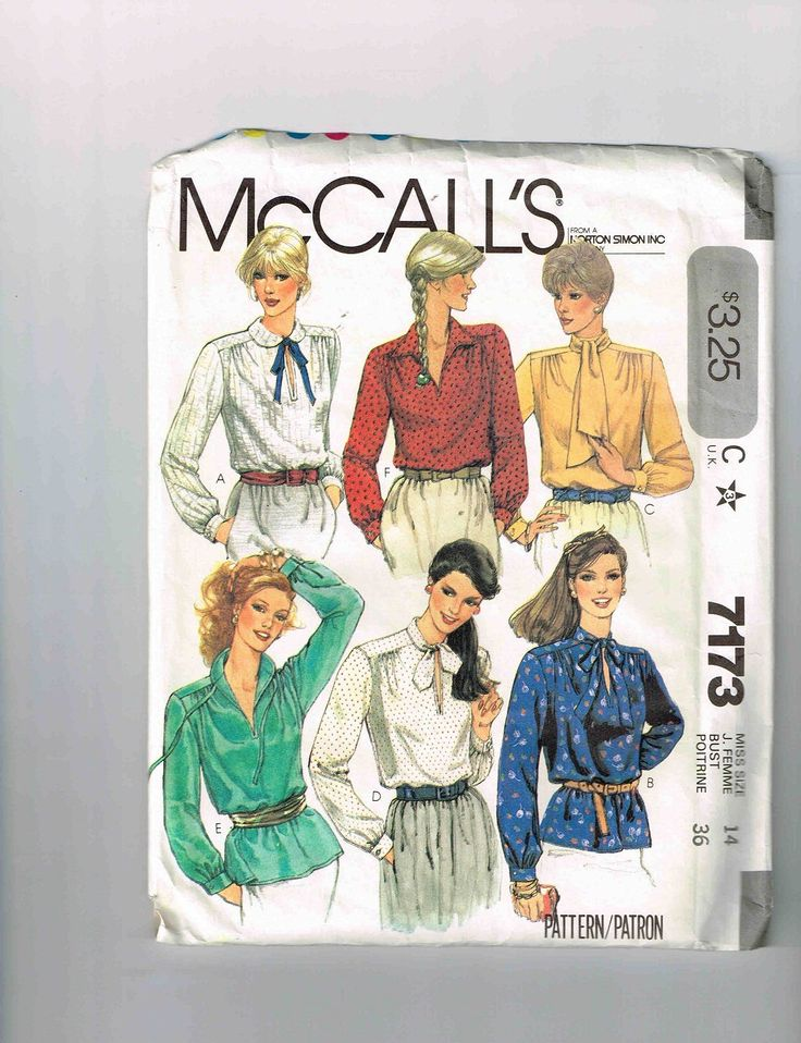 12 Best Vintage Blouse Top Stretch Knits Patterns Images On