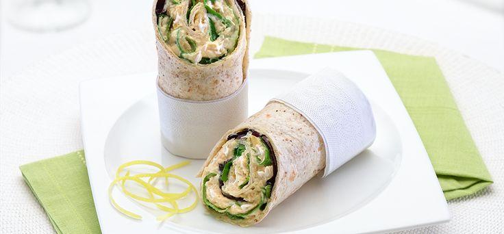 Philadelphia Recipe - Creamy Hummous Wrap
