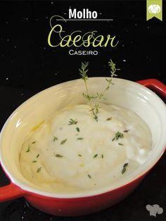 Molho Caesar Caseiro para uma salada perfeita   Homemade Caesar dressing salad for a perfect